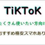 TikTok使い放題格安SIM(スマホ)